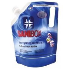 SANIBOX - почиставащ препарат за къщички, котешки тоалетни и подове - МОРСКИ БРИЗ, 1000 мл - Италия, 81002