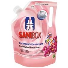 SANIBOX - почиставащ препарат за къщички, котешки тоалетни и подове - ФРЕЗИИ, 1000 мл - Италия, 81003