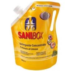 SANIBOX - почиставащ препарат за къщички, котешки тоалетни и подове - ЛИМОН, 1000 мл - Италия, 81005