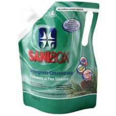 SANIBOX - почиставащ препарат за къщички, котешки тоалетни и подове - БЯЛ БОР 1000 мл - Италия, 81007