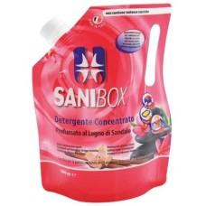 SANIBOX - почиставащ препарат за къщички, котешки тоалетни и подове - САНДАЛОВО ДЪРВО, 1000 мл - Италия, 81008