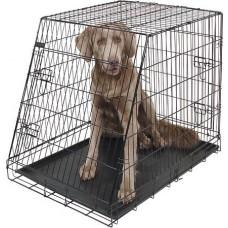 Kerbl Dog Cage - Метална клетка, сгъваема, скосена - 107 x 74 x 85 см - 81369