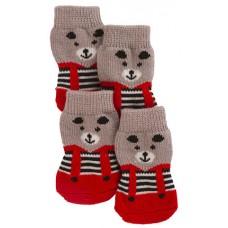 Kerbl Dog Socks Bruno - Чорапки Бруно комплект 4 броя р-р L 4х10,5 см 81420