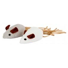 Играчка за котки Kerbl Mouse - Мишки с рошави опашки 2бр - 7х4 см - Kerbl Германия 81648