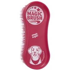 Kerbl MagicBrush Dog - четка за куче с къса и средна козина, размери 16,5 х 6,5 х 3 см, Червена, Германия - 81942