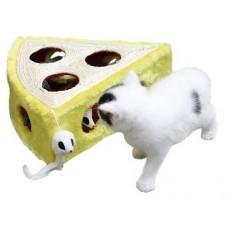 Играчка за котки Kerbl Sisal Toy Cheesy - Играчка с мишка 28х28х10 см - Kerbl Германия 82588