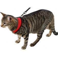 Kerbl Нагръдник и повод за котка, червен - 82644