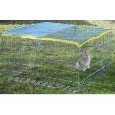 Kerbl Метално ограждение - клетка за двор 230х115х70 см, С покривало, Германия - 82825