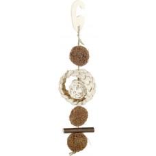 Kerbl Bird Toy Cocos - Играчка за папагали от кокосови влакна, ракита, царевица, дървесина и сизал 25 см - Германия 82940