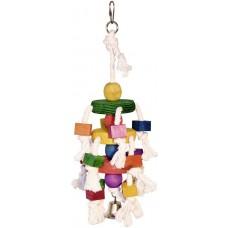 Kerbl Играчка за папагали, дърво, памучно въже и звънче 35 см - Германия 82956