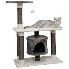 Драскало за котка - Kerbl Cat Tree Jade Darklight - бяло-сиво, 70 х 35 х 96 см Германия - 84460
