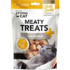 Prima Cat Deluxe Meaty Treats Anti-hairball - месни лакомства против образуване космени топки в стомаха 30 гр