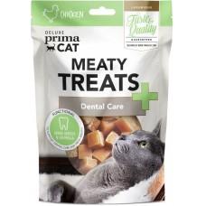 Prima Cat Deluxe Meaty Treats Dental care - месни лакомства против образуване на зъбен камък и добра устна хигиена 30 гр