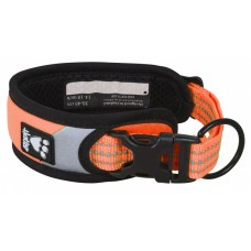 Hurtta Dazzle collar - нашийник ярка светлина - оранжев, обиколка врат 25 - 35 см - 932472