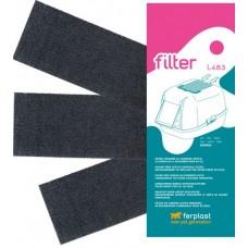 Ferplast l483 - филтри с активен въглен за котешка тоалетна Genica 24 х 10 х 5,3 cm - 3 бр