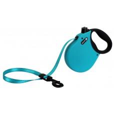 Alcott Adventure retractable leashes - автоматичен повод с мека дръжка Адвенчър, СИН, размер L - дължина на повода 4,8 м - подходящо за кучета до 49,8 кг ADLBE