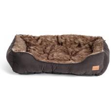 Agui Furry Bed - ЧЕРНО меко легло 47 х 37 х 17 см, Португалия AG10188