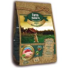 Farm Nature Adult Beef and Vegetables - храна за израстнали кучета, телешко със зеленчуци 12,5 кг
