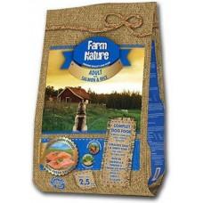 Farm Nature Adult Salmon and rice - храна за израстнали кучета, сьомга с ориз 12,5 кг