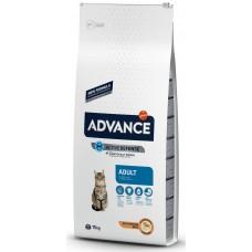Advance Cat Adult - пиле и ориз, високачествена храна за пораснали котки от 1 до 10 години, Испания - 15 кг