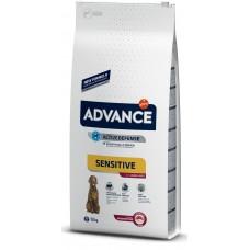Advance Dog All Breeds Adult Sensitive - агне и ориз, високачествена храна за пораснали кучета над 1 година, при проблеми с кожата и козината или алергии, за всички породи, Испания - 12 кг
