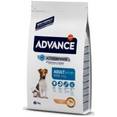 Advance Dog Mini Adult - пилешко и ориз, високачествена храна за пораснали кучета от дребните породи, над 1 година, Испания - 3 кг