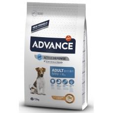 Advance Dog Mini Adult - пилешко и ориз, високачествена храна за пораснали кучета от дребните породи, над 1 година, Испания - 7,5 кг