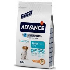 Advance Dog Mini Puppy - пилешко и ориз, високачествена храна за подрастващи кученца от дребните, за бременни, и за кърмещи кучета, Испания - 3 кг