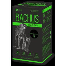 BACHUS HAIR & SKIN - КОЖА & КОЗИНА, за здрава кожа и козина, и подпомагане на жизнените органи - 60 таблетки, Швейцария - BACHUS-05