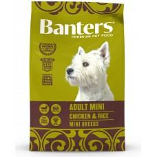 BANTERS Dog Adult Mini Chicken & Rice Mini Breeds - Храна за пораснали кучета от мини породи над 1 година, с пиле и ориз - Испания 15 кг