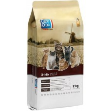 CAROCROC CAT 3-MIX - храна за пораснали котки, от всички породи, с ПИЛЕ, РИБА и ДИВЕЧ, Холандия - 15 кг