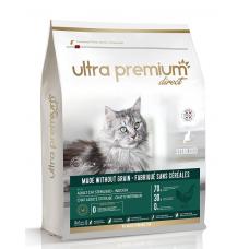 Ultra Premium Direct Adult cat sterilised - Indoor - Суха храна за пораснали кастрирани котки, отглеждани на закрито, без зърно, 70% месо и месни съставки - пиле и прасе, 7 кг, Франция CAT0702