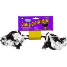 Играчка от въже Pet Brands Choco-Cotton Bone - Въжен кокал шоколад, размер L 7,5x28x7,5cm, Англия CCBL