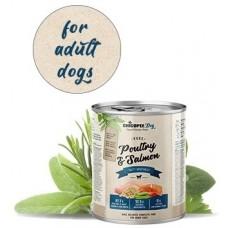 Chicopee Adult Poultry Salmon консерва за куче с 87,7% пресен микс от месо, сьомга и птичи бульон - 400 гр, Германия