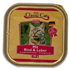 Classic Cat Adult - пастет за котки с Говеждо месо и Черен дроб, 100 гр Германия