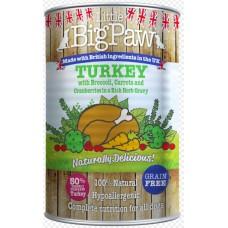 Little BigPaw Turkey with Broccoli, Carrots and Cranberries in a Rich Herb Gravy - с пуйка, червени боровинки, броколи, моркови и билки 390 гр