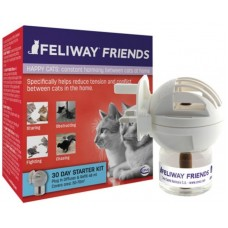 Feliway Friends Дифузер + пълнител 48 мл - намаляване на конфликтите между котките, живеещи заедно, CEVA - Франция - D89410I