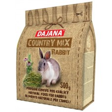 DAJANA Country mix Rabbit, пълноценна храна за зайци - 500 гр DP404J
