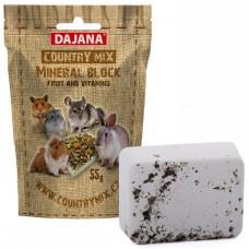 DAJANA Country mix Mineral block FRUIT, плодов минерален камък - 55 гр DP461