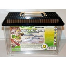 Dragon PET-PLAZA Пластмасов терариум Medium - 29,5x19,5x20cm с дръжка