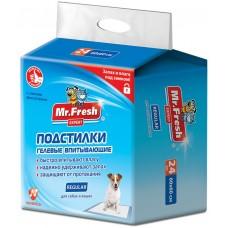 Mr.Fresh Regular хигиенна подложка, за кучета и котки - 60х60 - 24 бр, Русия F502