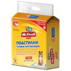 Mr.Fresh Super хигиенна подложка със супер попиваемост, за кучета и котки - 40х60 - 10 бр, Русия F507