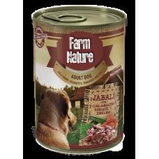 Farm Nature GRAIN FREE - Консерва за куче с диво прасе, тиквички, домати и копър 400 гр
