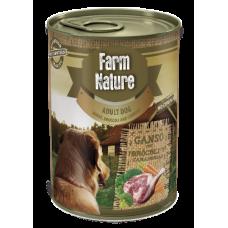 Farm Nature GRAIN FREE - Консерва за куче с гъше месо, броколи и моркови 400 гр