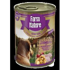 Farm Nature GRAIN FREE - Консерва за куче с заек, картофи, ябълки и мащерка 400 гр