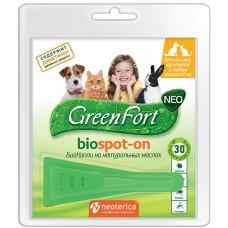 GreenFort neo BioSpot-on - натурални, противопаразитни капки за котки, кучета, зайци и гризачи до 10 кг, Русия G201