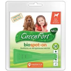 GreenFort neo BioSpot-on - натурални, противопаразитни капки за кучета с тегло 10 - 25 кг, Русия G202