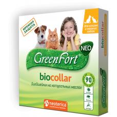GreenFort Neo Bio Collar - натурален, противопаразитен нашийник за котки и малки породи кучета - 40 см, Русия G204