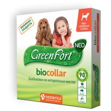 GreenFort Neo Bio Collar - натурален, противопаразитен нашийник за средни породи кучета - 65 см, Русия G205