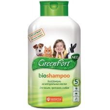 GreenFort neo BioShampoo - натурален, противопаразитен шампоан за котки, кучета, зайци и гризачи - 380 мл, Русия G208